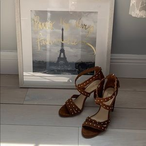 Vince Camuto suede studded strap sandals